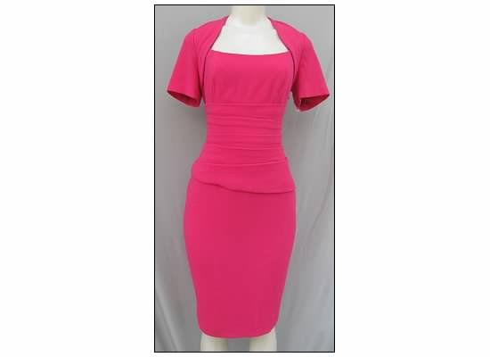 NEW Anne Klein Pink Classic Sheath Career Combo Dress w/ Stretch